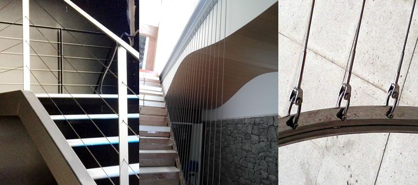 Montamos cables inoxidables haciendo y colocando cables