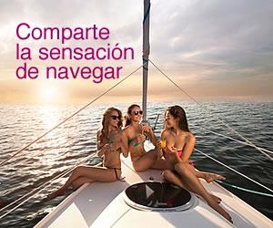 Comparte la sensación de navegar con tus amigos y familia